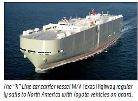 Car Carrier M/V Texas Highway